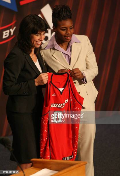 Ashley Shields of South West Tennessee is selected as the 8th overall draft pick by the Houston Comets during the 2007 WNBA Draft at the Renissance...