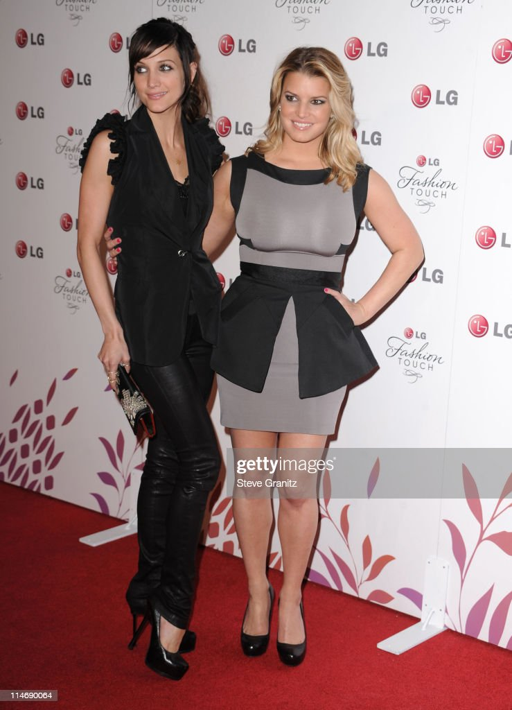Ashley Simpson and Jessica Simpson attends A Night Of Fashion & Technology With LG Mobile Phones Hosted By Victoria Beckham & Eva Longoria at Soho House on May 24, 2010 in West Hollywood, California.