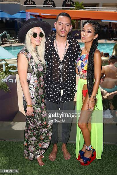 Ashley Simpson Evan Ross and Jhene Aiko celebrate A Toast to Summer with the NEW Limited Edition CIROC Summer Colada at the Hard Rock Hotel in Palm...