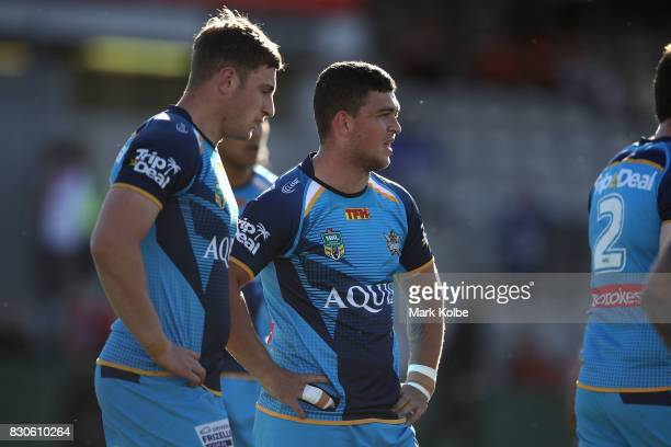 Ashley Taylor of the Titans looks dejected after a Dragons try during the round 23 NRL match between the St George Illawarra Dragons and the Gold...