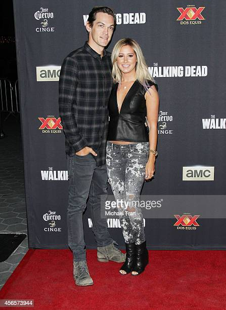 Ashley Tisdale and her husband musician Christopher French arrive at AMC's 'The Walking Dead' Season 5 Premiere held at AMC Universal City Walk on...