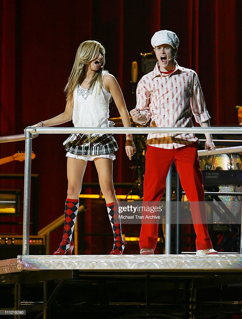Ashley Tisdale and Lucas Grabeel during 'High School Musical' In Concert December 28 2006 at Verizon Wireless Center in Washington DC Washington DC...