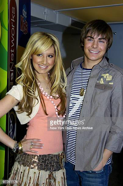 Ashley Tisdale and Zac Efron are on hand as the stars of the Disney Channel meet the media at Splashlight Studios on W 35th St