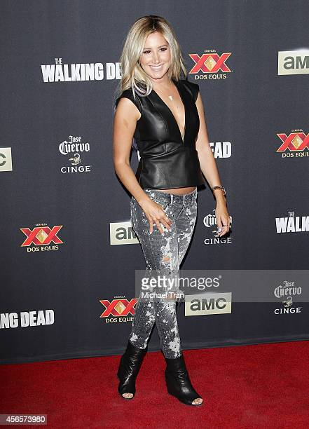 Ashley Tisdale arrives at AMC's 'The Walking Dead' Season 5 Premiere held at AMC Universal City Walk on October 2 2014 in Universal City California