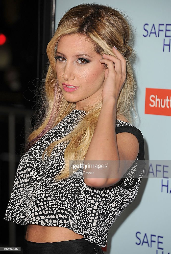 <a gi-track='captionPersonalityLinkClicked' href=/galleries/search?phrase=Ashley+Tisdale&family=editorial&specificpeople=213972 ng-click='$event.stopPropagation()'>Ashley Tisdale</a> arrives at the 'Safe Haven' - Los Angeles Premiere at TCL Chinese Theatre on February 5, 2013 in Hollywood, California.