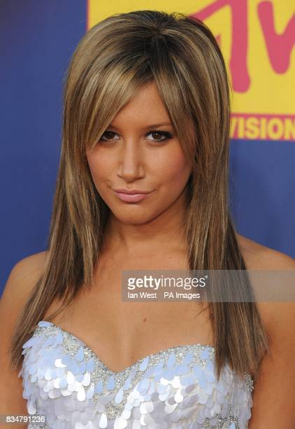 Ashley Tisdale arrives for the MTV Video Music Awards 2008 at Paramount Studios Hollywood Los Angeles California
