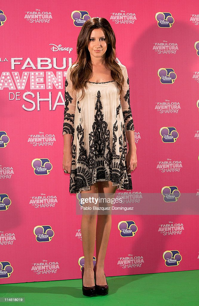 <a gi-track='captionPersonalityLinkClicked' href=/galleries/search?phrase=Ashley+Tisdale&family=editorial&specificpeople=213972 ng-click='$event.stopPropagation()'>Ashley Tisdale</a> attends 'Sharpay's Fabulous Adventure' photocall at Disney Channel on May 23, 2011 in Madrid, Spain.