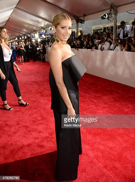 Ashley Tisdale attends the 2015 Tony Awards at Radio City Music Hall on June 7 2015 in New York City