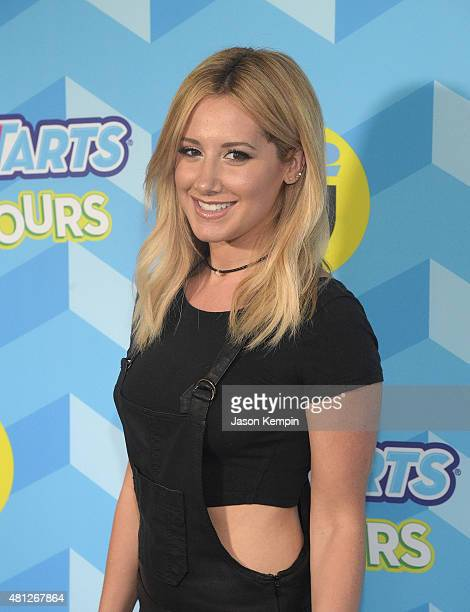 Ashley Tisdale attends the Just Jared's Summer Bash Pool Party 2015 on July 18 2015 in Los Angeles California