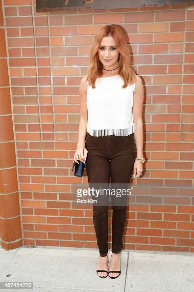Ashley Tisdale attends the LC Lauren Conrad fashion show during Spring 2016 New York Fashion Week at Skylight Modern on September 9 2015 in New York...