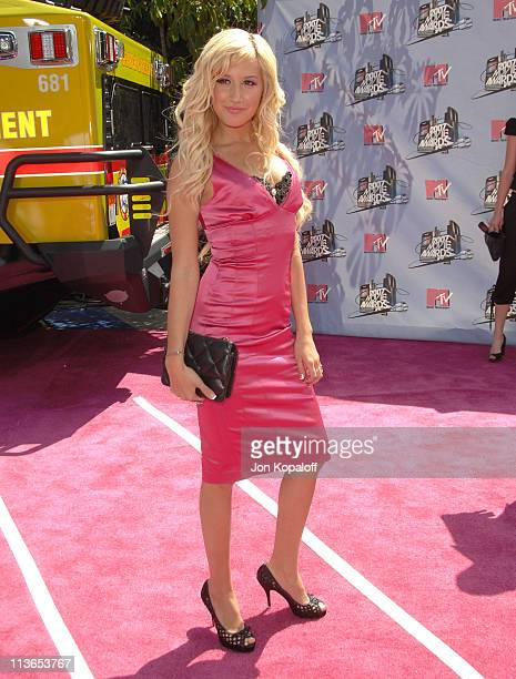 Ashley Tisdale during 2007 MTV Movie Awards Arrivals at Gibson Amphitheater in Los Angeles California United States