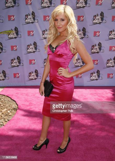 Ashley Tisdale during 2007 MTV Movie Awards Red Carpet at Gibson Amphitheater in Los Angeles California United States
