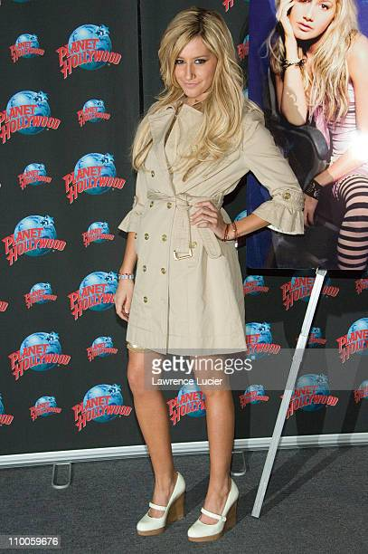 Ashley Tisdale during Ashley Tisdale Visits Planet Hollywood February 7 2007 at Planet Hollywood in New York City New York United States