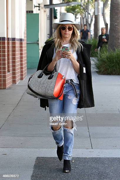 Ashley Tisdale is seen in Beverly Hills on March 12 2015 in Los Angeles California