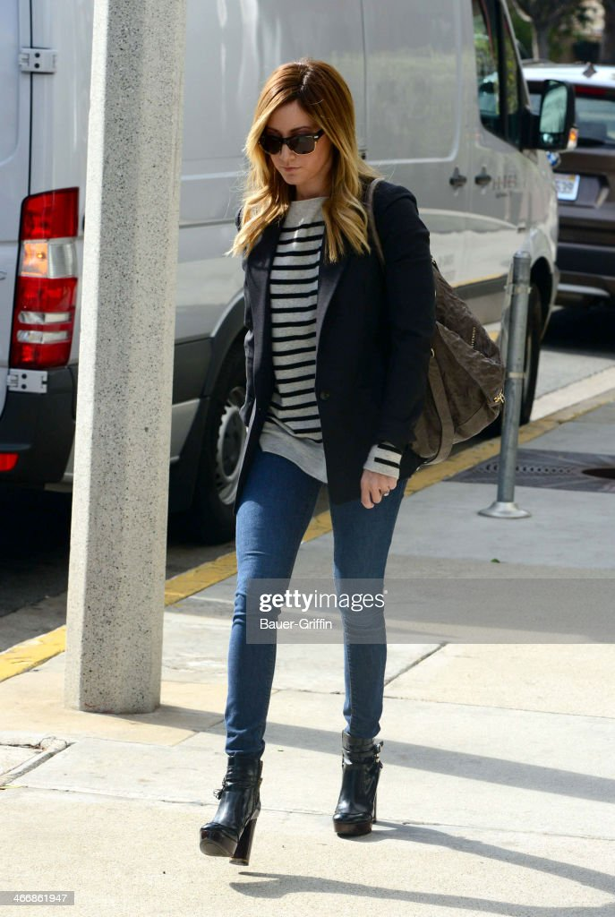 <a gi-track='captionPersonalityLinkClicked' href=/galleries/search?phrase=Ashley+Tisdale&family=editorial&specificpeople=213972 ng-click='$event.stopPropagation()'>Ashley Tisdale</a> is seen on February 04, 2014 in Los Angeles, California.