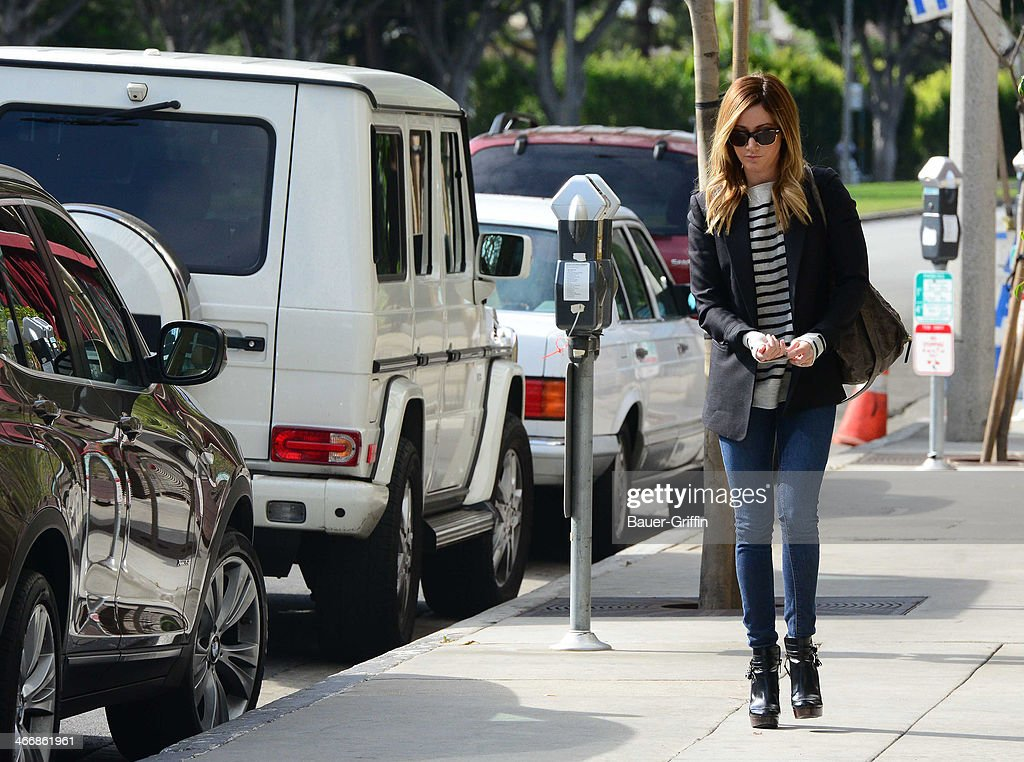 Ashley Tisdale is seen on February 04, 2014 in Los Angeles, California.