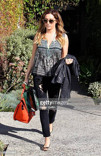 Ashley Tisdale is seen on February 13 2014 in Los Angeles California