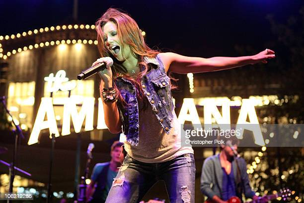 Ashley Tisdale performs during The Donate Life Summer Concert Series at The Green at The Americana at Brand in Glendale CA on August 12 2009