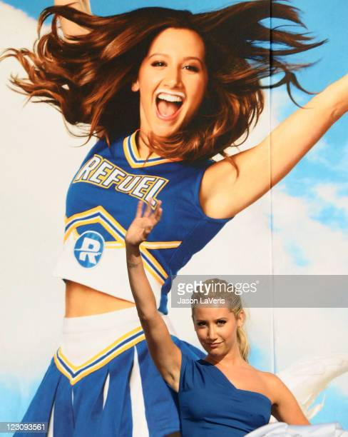Ashley Tisdale unveils her new 'Got Milk' ad at The Grove on August 30 2011 in Los Angeles California
