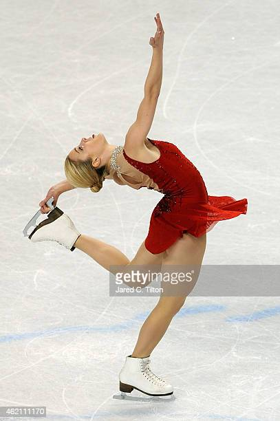 Ashley Wagner competes in the Championship Ladies Free Skate Program Competition during day 3 of the 2015 Prudential US Figure Skating Championships...