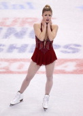 Ashley Wagner competes in the free skate program during the 2014 Prudential US Figure Skating Championships at TD Garden on January 11 2014 in Boston...