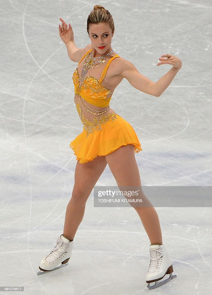 Ashley Wagner of the US performs during her free skating in the women's singles at the world figure skating championships in Saitama on March 29, 2014.