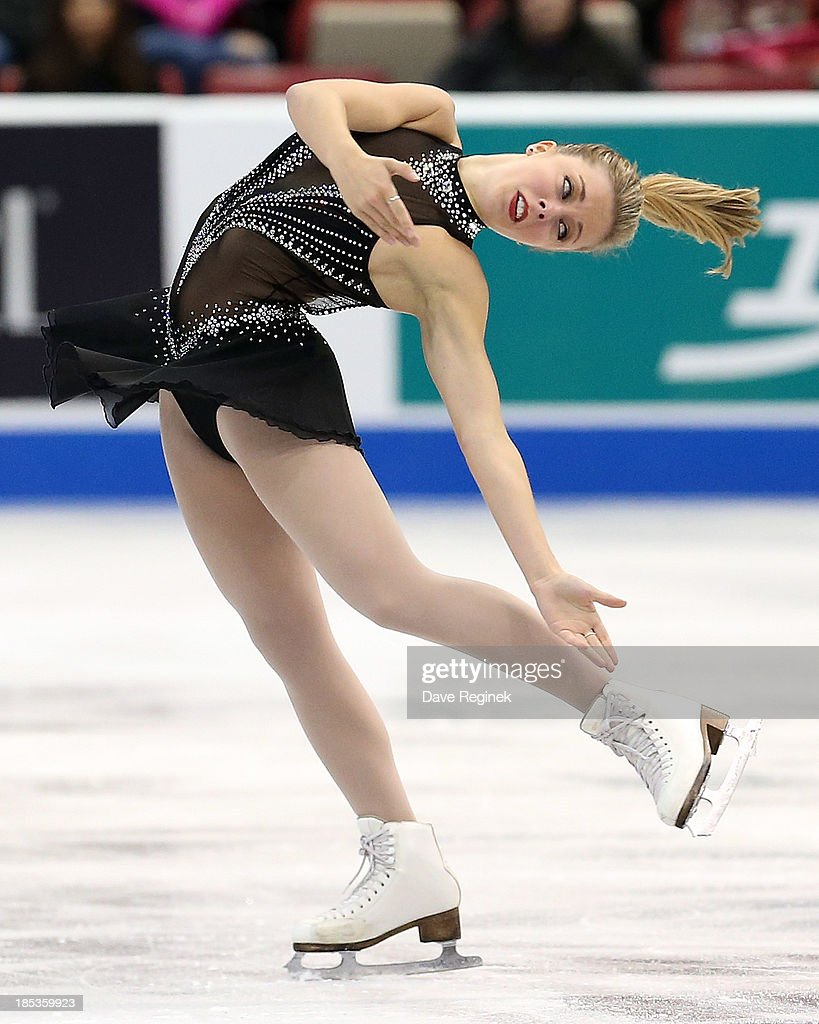 Ashley Wagner of the USA performs during the ladies short program of day two at Skate America at Joe Louis Arena on October 19, 2013 in Detroit, Michigan.