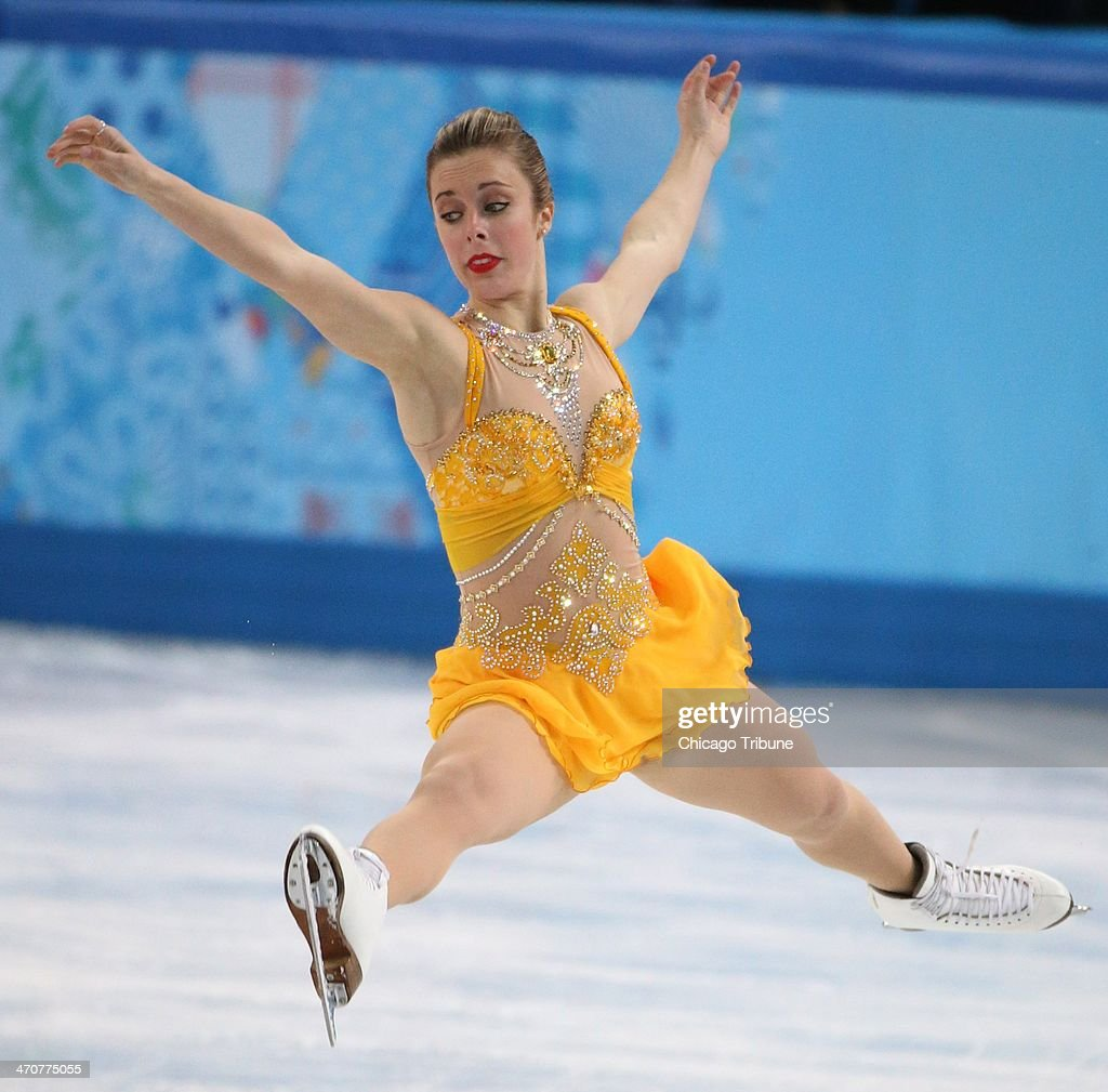 Ashley Wagner of the USA performs in the ladies' figure skating free skate at the Iceberg Skating Palace during the Winter Olympics in Sochi, Russia, Thursday, Feb. 20, 2014.
