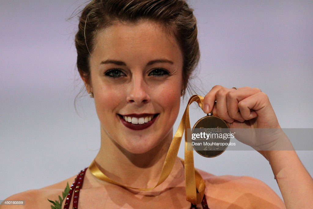 <a gi-track='captionPersonalityLinkClicked' href=/galleries/search?phrase=Ashley+Wagner&family=editorial&specificpeople=2564533 ng-click='$event.stopPropagation()'>Ashley Wagner</a> of the USA poses after winning the gold medal in the Ladies Free Skating during day two of Trophee Eric Bompard ISU Grand Prix of Figure Skating 2013/2014 at the Palais Omnisports de Bercy on November 16, 2013 in Paris, France.