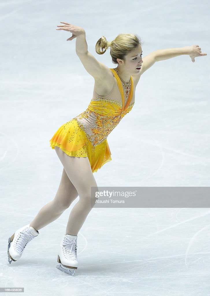 Ashley Wagner of USA competes in the ladies's free skating during day three of the ISU World Team Trophy at Yoyogi National Gymnasium on April 13, 2013 in Tokyo, Japan.