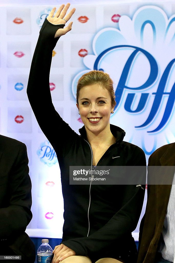 Ashley Wagner reacts as she gets her score after skating in the Ladies Short Program during the 2013 Prudential U.S. Figure Skating Championships at CenturyLink Center on January 24, 2013 in Omaha, Nebraska.