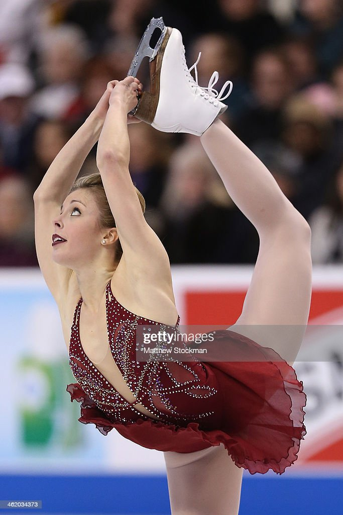 <a gi-track='captionPersonalityLinkClicked' href=/galleries/search?phrase=Ashley+Wagner&family=editorial&specificpeople=2564533 ng-click='$event.stopPropagation()'>Ashley Wagner</a> skates the ladies free skate during the Prudential U.S. Figure Skating Championships at TD Garden on January 11, 2014 in Boston, Massachusetts.