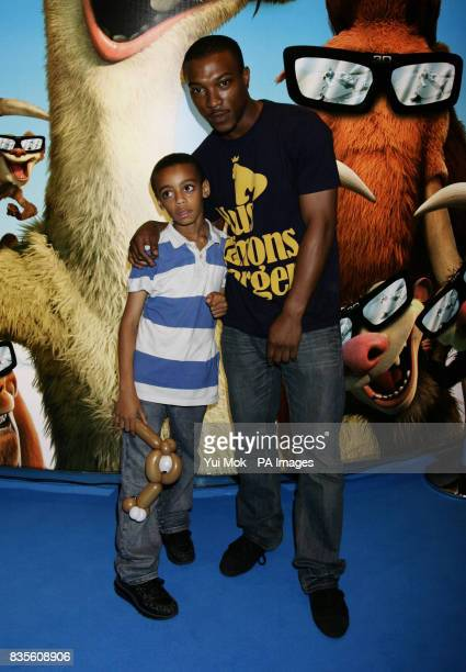 Ashley Walters and son China arriving for the gala screening of Ice Age 3 at The Empire Cinema in Leicester Square central London