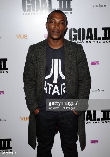 Ashley Walters arrives at the screening of new film Goal III at the Charlotte Street Hotel in London