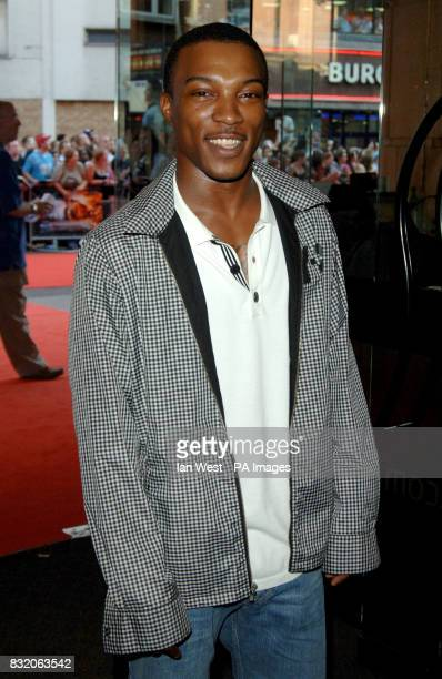 Ashley Walters arriving for the premiere of Stormbreaker from the Vue West End Leicester Square central London Picture date Monday 17 July 2006 Watch...