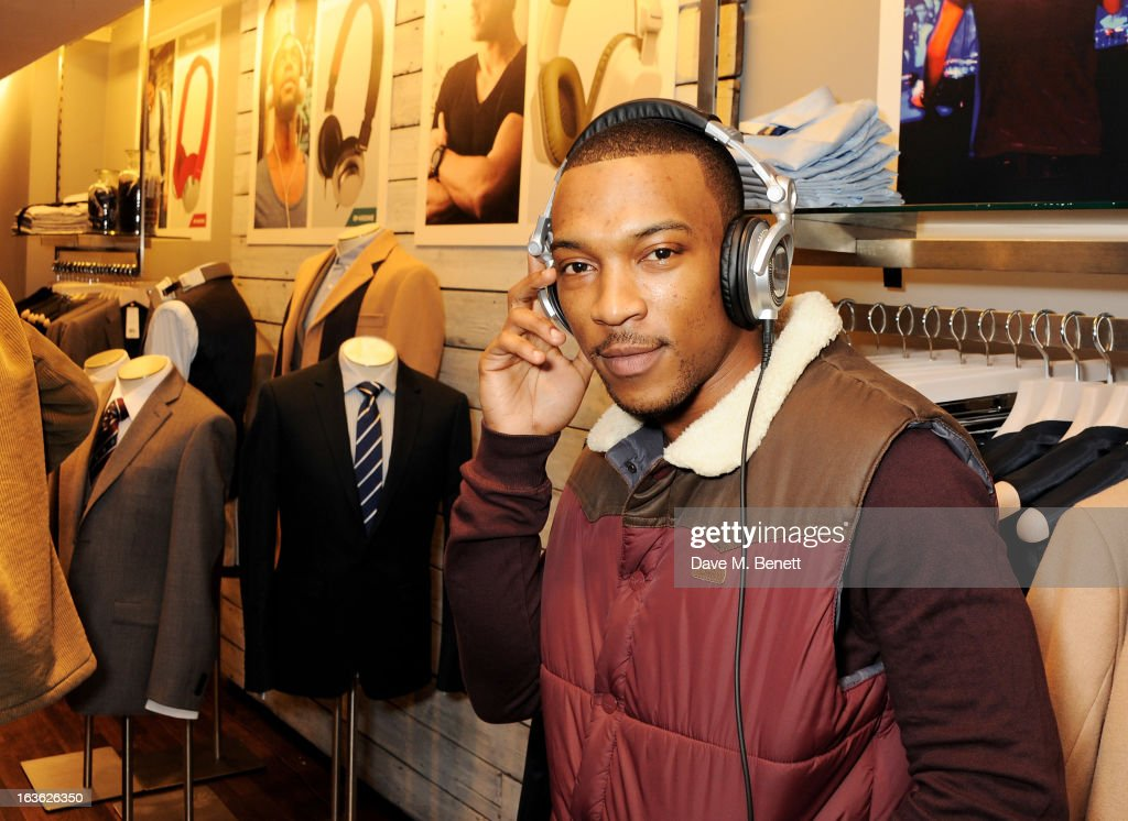 Ashley Walters attends the Panasonic Technics 'Shop To The Beat' Party hosted by George Lamb at French Connection, Oxford Circus, on March 13, 2013 in London, England.