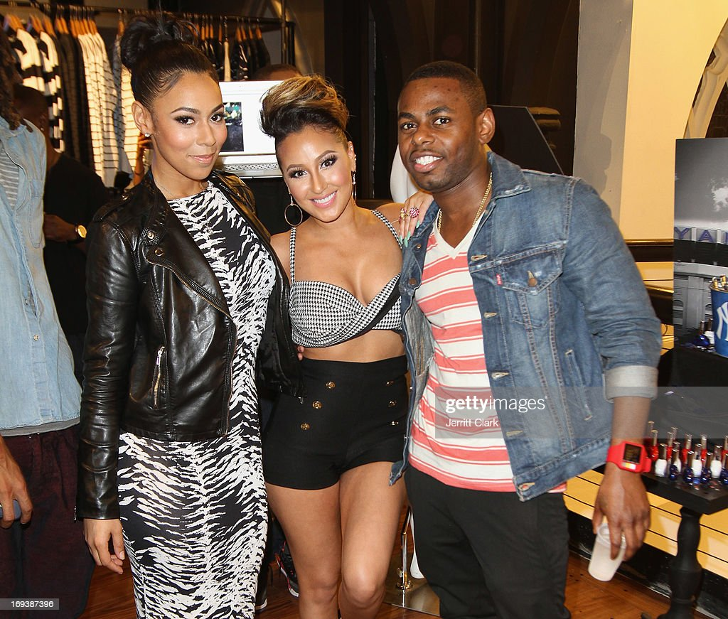 Ashley Weatherspoon, <a gi-track='captionPersonalityLinkClicked' href=/galleries/search?phrase=Adrienne+Bailon&family=editorial&specificpeople=540286 ng-click='$event.stopPropagation()'>Adrienne Bailon</a> and Jayvon Smith attend the Launch of Fingertip Fetish Nail Polish at Modalistas on May 23, 2013 in New York City.