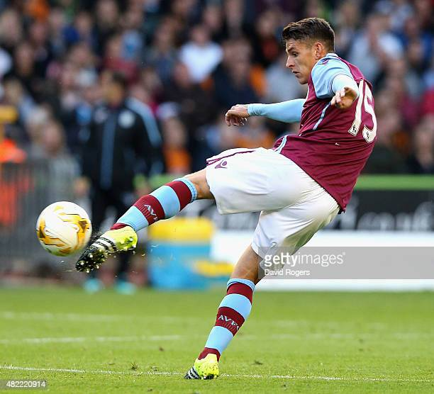Ashley Westwood of Aston Villa controls the ball during the pre season friendly between Wolverhampton Wanderers and Aston Villa at Molineux on July...
