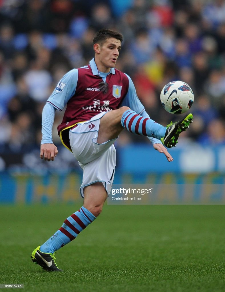 Ashley Westwood of Aston Villa during the Barclays Premier League match between Reading and Aston Villa at Madejski Stadium on March 9, 2013 in Reading, England.