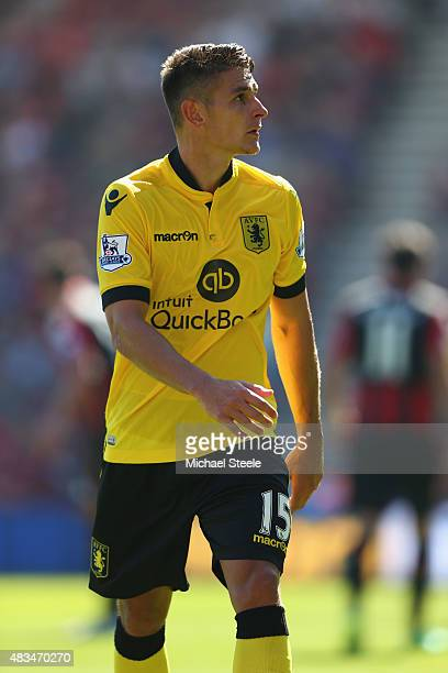 Ashley Westwood of Aston Villa during the Barclays Premier League match between Bournemouth and Aston Villa at the Vitality Stadium on August 8 2015...