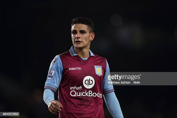 Ashley Westwood of Aston Villa during the Barclays Premier League match between Aston Villa and Manchester United at Villa Park on August 14 2015 in...