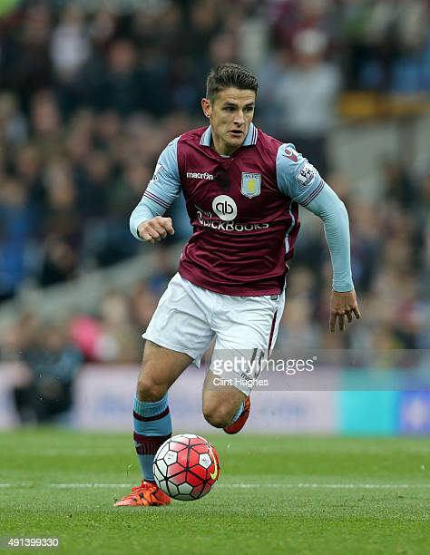 Ashley Westwood of Aston Villa during the Barclays Premier League match between Aston Villa and Stoke City at Villa Park on October 3 2015 in...