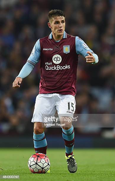 Ashley Westwood of Aston Villa in action during the Barclays Premier League match between Aston Villa and Manchester United at Villa Park on August...