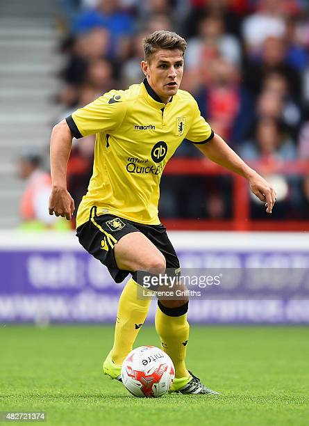Ashley Westwood of Aston Villa in action during the Pre Season Friendly match between Nottingham Forest and Aston Villa at City Ground on August 1...