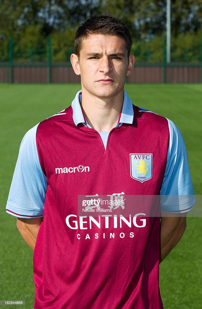 Ashley Westwood of Aston Villa poses during the club's 2012/13 photo call at the club's training ground at Bodymoor Heath on September 18, 2012 in Birmingham, England.