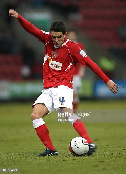 Ashley Westwood of Crewe Alexandra in action during the npower League Two match between Crewe Alexandra and Northampton Town at the Alexandra Stadium...