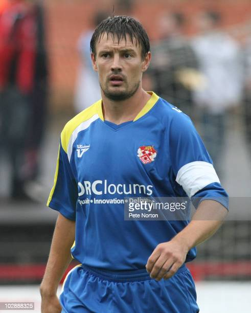 Ashley Westwood of Kettering Town during the PreSeason Friendly match between Kettering Town and Northampton Town held on July 13 2010 at the Elgoods...