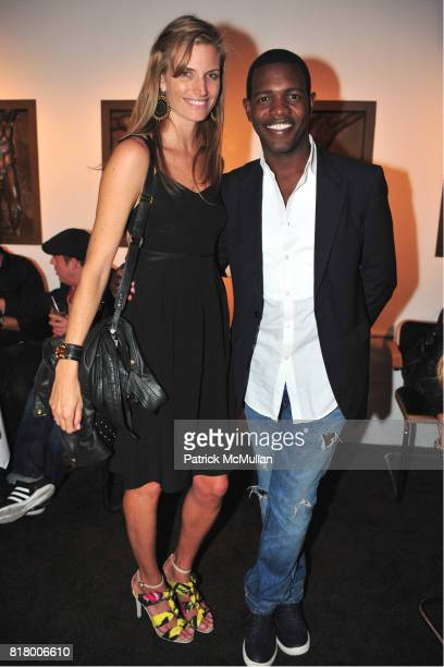 Ashley Wick and Kwesi Blair attend THE RUFFIAN BOYS Host a Caviar and Champagne Dinner at Michaels West 55th St on September 9 2010 in New York City