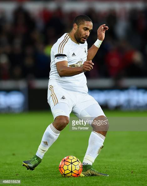 Ashley Williams of Swansea in action during the Barclays Premier League match between Swansea City and AFC Bournemouth at Liberty Stadium on November...
