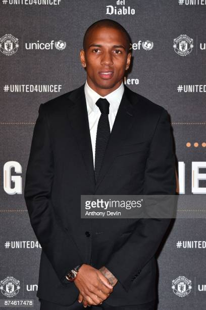 Ashley Young attends the United for Unicef Gala Dinner at Old Trafford on November 15 2017 in Manchester England